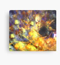 Lavender Orange Spiral Metal Print