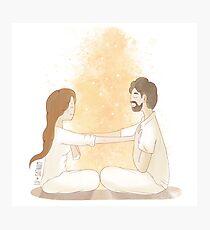 Meditando en pareja Photographic Print