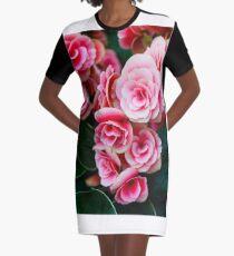 Gentle Blushing Roses Graphic T-Shirt Dress