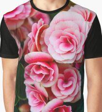 Gentle Blushing Roses Graphic T-Shirt