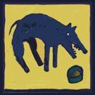 STARVE BLUE DOG  EATING  by SofiaYoushi