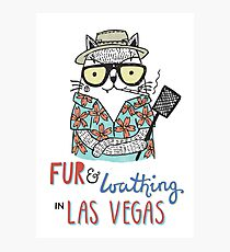 Fur & Loathing in Las Vegas Photographic Print