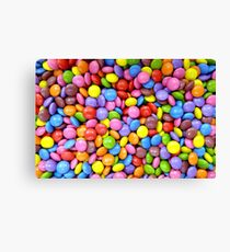 colorful candy smarties Canvas Print