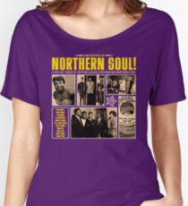 A Red Hot Fusion of Rythm and Blues, Popcorn and Northern Soul Women's Relaxed Fit T-Shirt