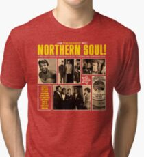 A Red Hot Fusion of Rythm and Blues, Popcorn and Northern Soul Tri-blend T-Shirt