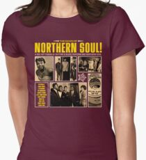 A Red Hot Fusion of Rythm and Blues, Popcorn and Northern Soul Womens Fitted T-Shirt