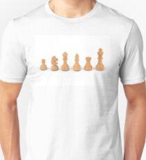 white chess pieces Unisex T-Shirt