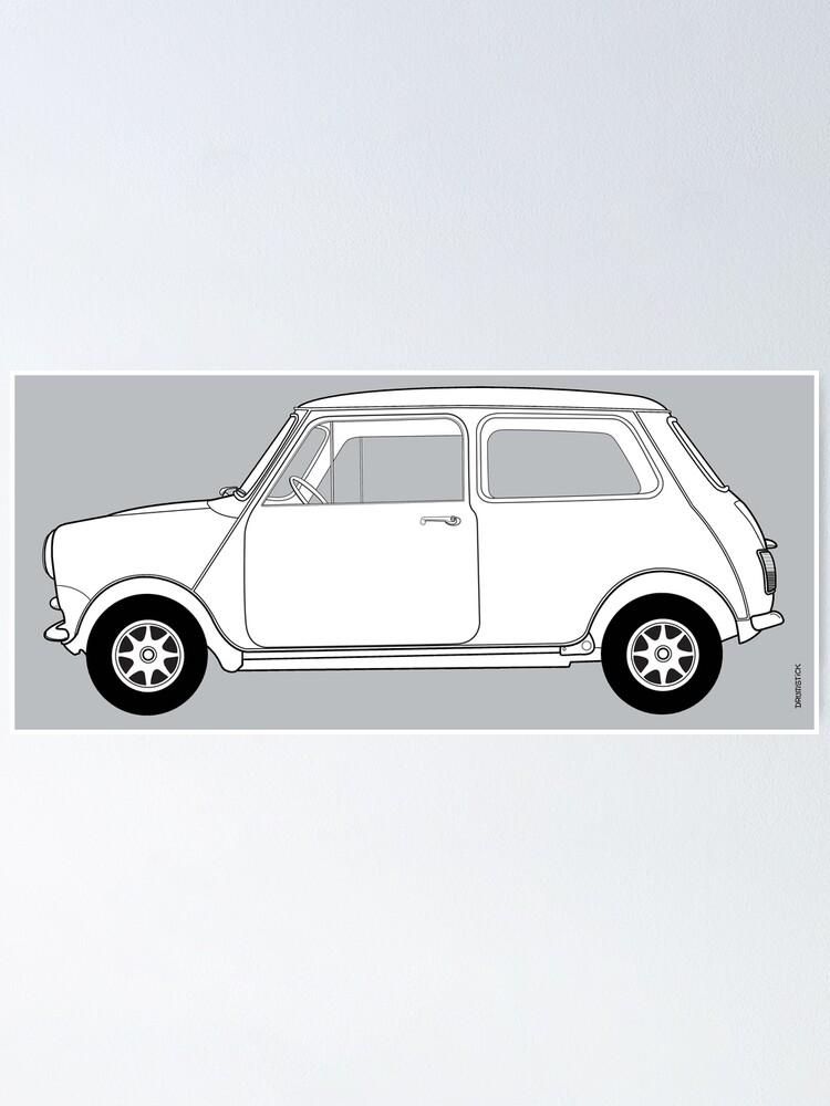 Alternate view of Morris Mini Cooper Poster