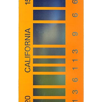 2015 California Barcode Plate by shadeprint