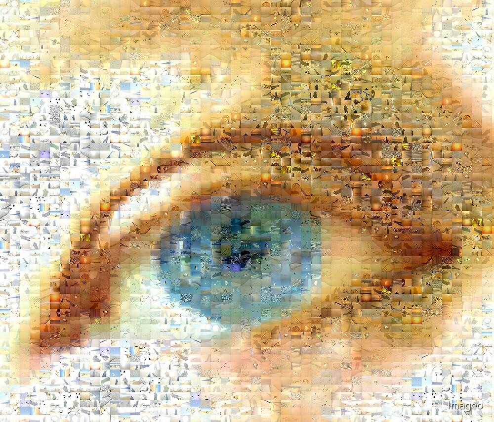 Blue Eye Mosaic by Imageo