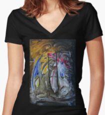 Off Center Women's Fitted V-Neck T-Shirt