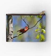 Male Scarlet Tanager Zipper Pouch