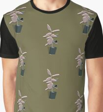 Potted Palm - Khaki Graphic T-Shirt
