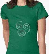 Watercolor Air Nomad Symbol Womens Fitted T-Shirt