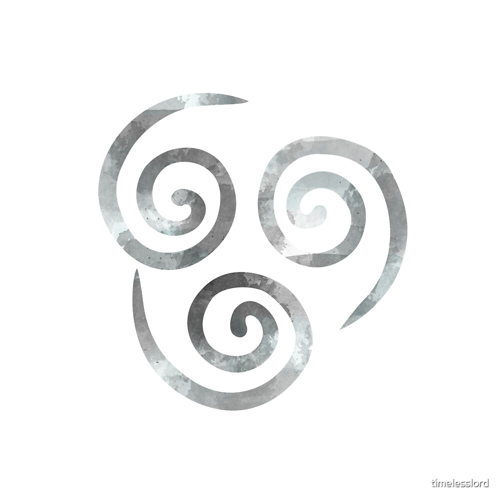 Watercolor Air Nomad Symbol By Timelesslord Redbubble