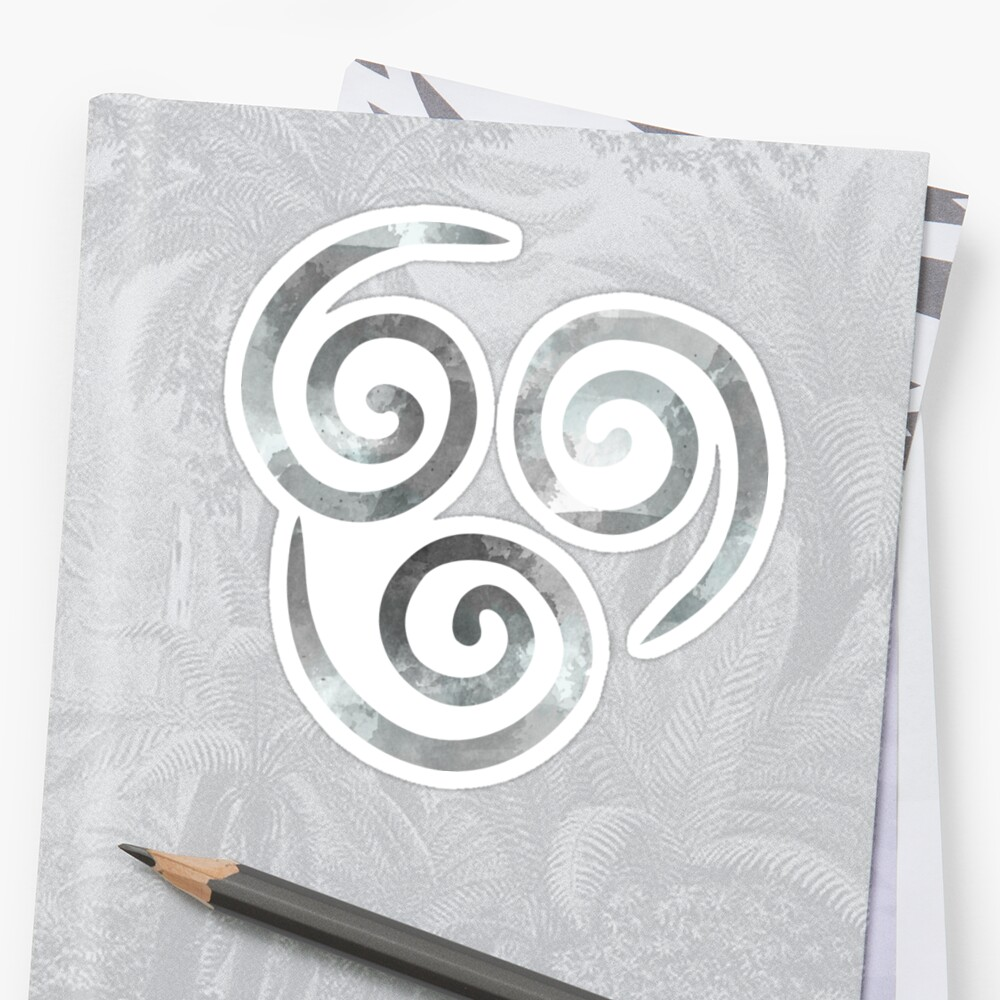 Watercolor Air Nomad Symbol Stickers By Timelesslord Redbubble
