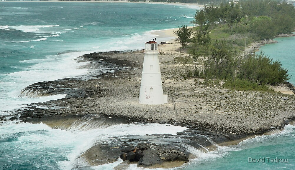 Lighthouse in the Bahamas by David Tedrow