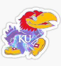Kansas University Psychadellic  Sticker