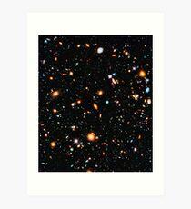 Hubble extremes tiefes Feld Kunstdruck