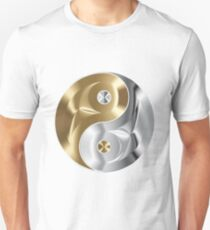 chrome copper yin yang Unisex T-Shirt