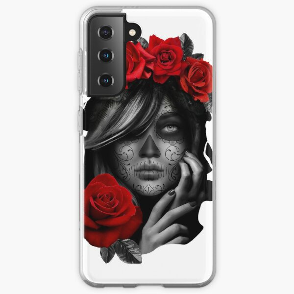 Day Of The Dead Woman Samsung Galaxy Soft Case
