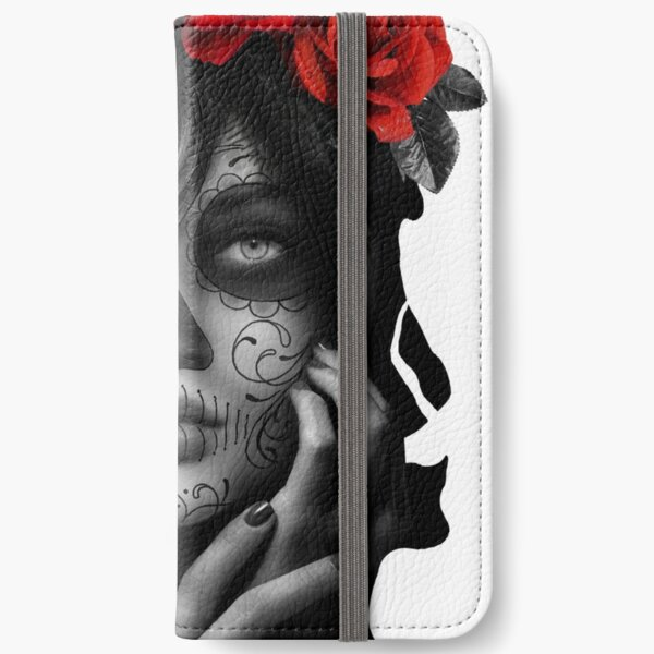 Day Of The Dead Woman iPhone Wallet