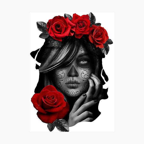 Day Of The Dead Woman Photographic Print