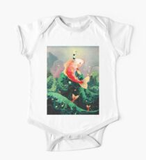 kid and giant koi One Piece - Short Sleeve