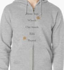 Pottery order Zipped Hoodie