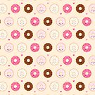 Cute Donuts Pattern on cream by mycutelobster