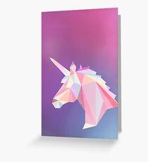 Unicorn low poly Greeting Card