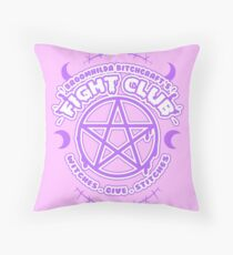 Witch Fight Club - Pastel Goth Throw Pillow