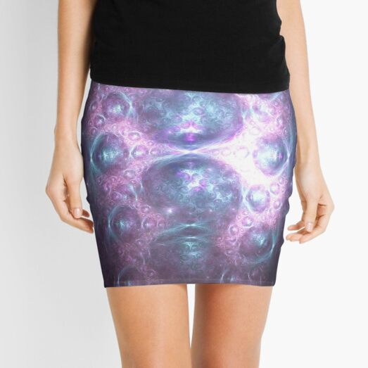 Chi Traveling to Heal With Power and Quickness | Fractal Art Mini Skirt