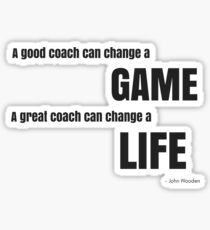 Great Coach John Wooden Quote Sticker