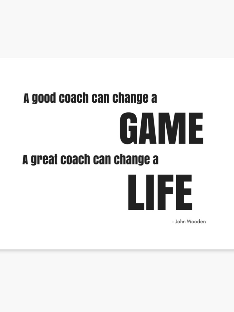 Great Coach John Wooden Quote Canvas Print