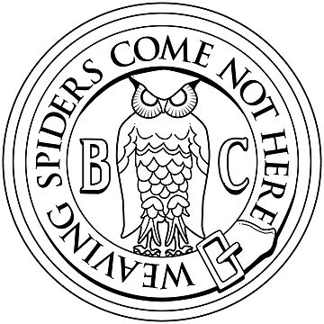 Bohemian Grove Owl Logo - Black & White by thedrumstick