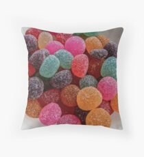 Colored Candy Throw Pillow