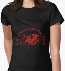 Barcelona Bagpipe Band Red Logo Women's Fitted T-Shirt