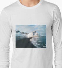 Iceland beach at sunset - Landscape Photography Long Sleeve T-Shirt