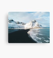 Iceland beach at sunset - Landscape Photography Metal Print