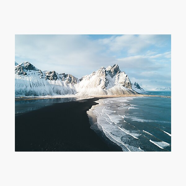 Iceland beach at sunset - Landscape Photography Photographic Print