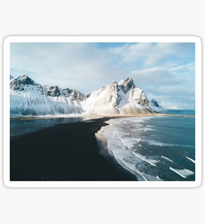 Iceland beach at sunset - Landscape Photography Sticker