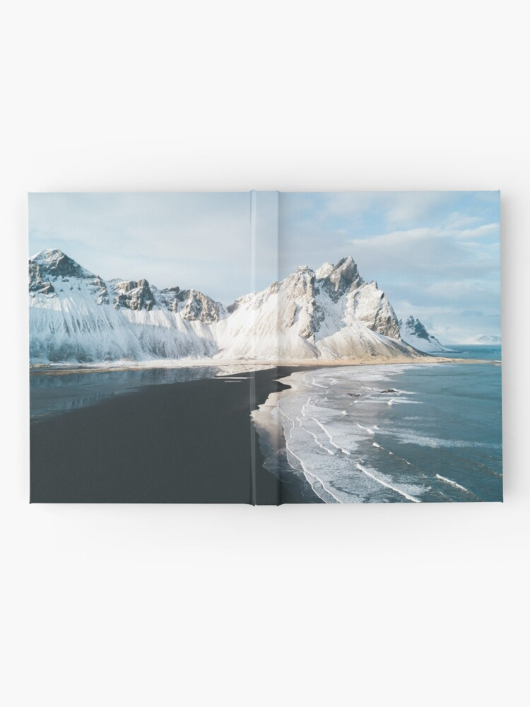 Vista alternativa de Cuaderno de tapa dura Playa de Islandia al atardecer - Fotografía de paisaje