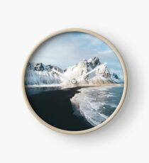 Iceland beach at sunset - Landscape Photography Clock