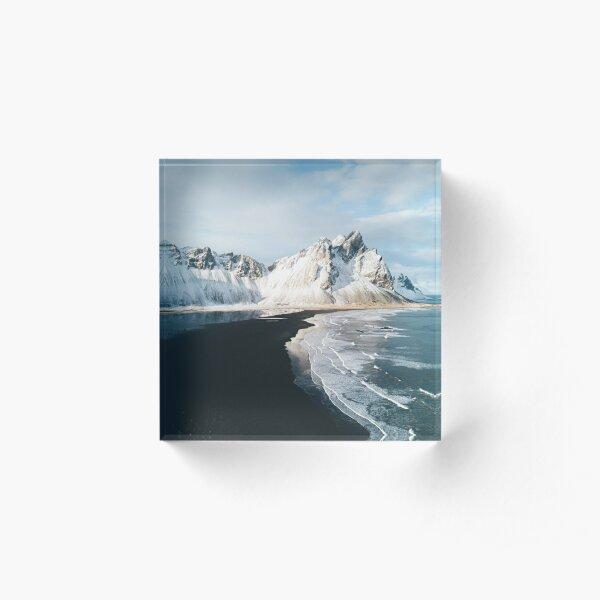 Iceland beach at sunset - Landscape Photography Acrylic Block