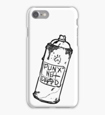 Spray Can - PUNX NOT DEAD iPhone Case/Skin