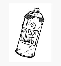 Spray Can - PUNX NOT DEAD Photographic Print