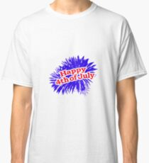 Happy 4th of July Graphic Logo Classic T-Shirt