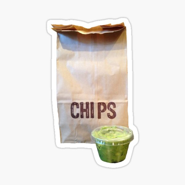 Chipotle Chips & Guac Sticker