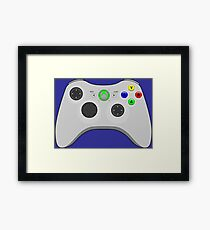 Video Game Inspired Console Xbox 360 Controller Gamepad Framed Print